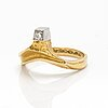 Ring, 18k guld, diamant, lapponia 1980.