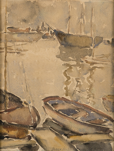 Anna snellman, watercolour, signed and dated 1921.