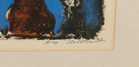 Alo hoidre, litography, signed and dated-87.