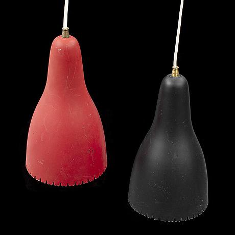 Bent karlby, taklampor, ett par, lyfa, danmark, 1950-tal.