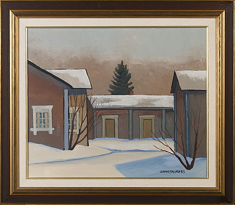Juhani palmu, oil on canvas, signed and dated-83.