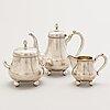 A 3-piece silver coffee set, mark of aleksandr b. lyubavin, saint petersburg, turn of the century 1900.