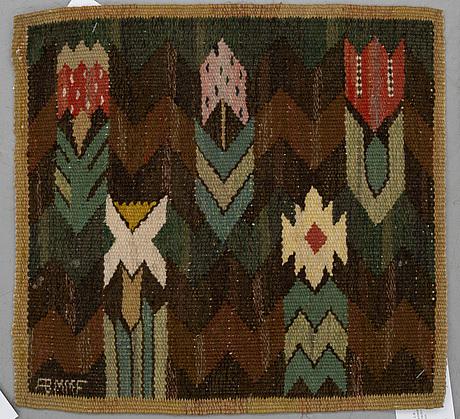 "Textiles, 2 pcs., ""täppan"" and ""gul kvist"", tapestry weave, märta måås-fjetterström and barbro nilsson."