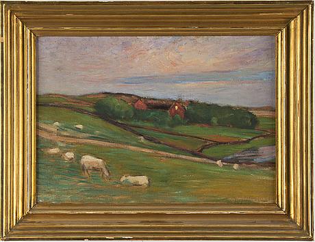 Karl nordstrÖm, oil on canvas, unsigned.