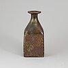 Stig lindberg, a stoneware vase from gustvaberg, signed.