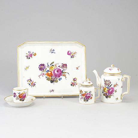 Kaffeservis, fyra delar, porslin. tyskland,  1800-tal.