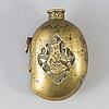 A brass flask, oriental, 20th century.