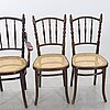 Chairs, 4 + 1, thonet, first half of the 20th century.
