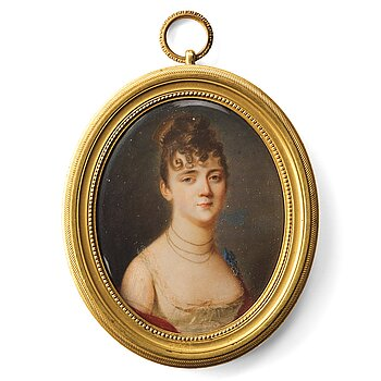 356. Domenico Bossi, Portrait of a lady in a white dress.