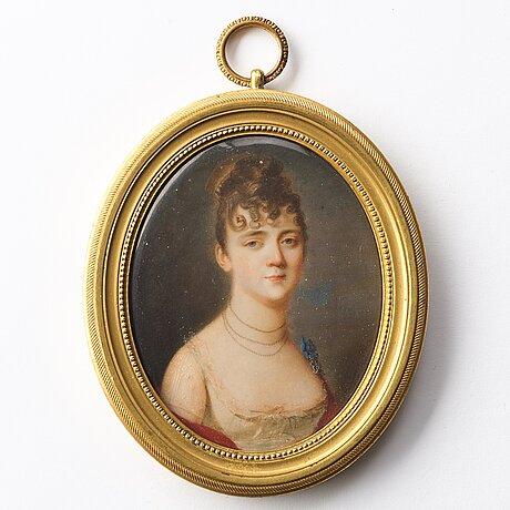 Domenico bossi, portrait of a lady in a white dress.
