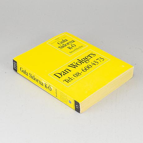 Dan wolgers, telephone directory, 1992.