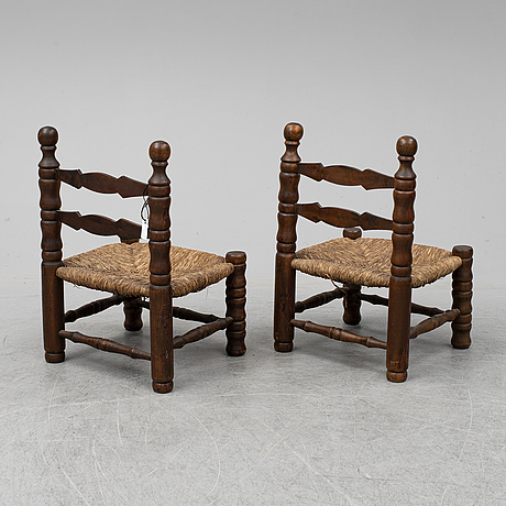 A pair of mid 20th century chairs.