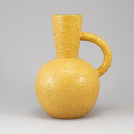 A mid 20th century glazed ceramic vase, andersson & johansson, höganäs.