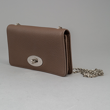 Mulberry, a leather 'wallet on chain' clutch, 2014.