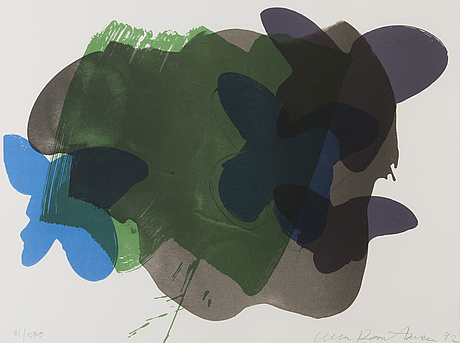 Ulla rantanen, colour lithograph, signed and dated 92, numbered 81/500.