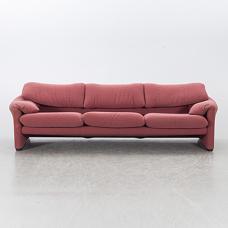 "Vico magistretti, a ""maralunga"" sofa, cassina, italy, later part of the 20th century."