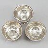 Tumlare, 2 st samt supkopp, silver, sverige, 1700-tal.