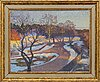 Carl johansson, oil on canvas, signed, dated 1934.