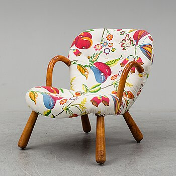 Philip Arctander, attributed to. A Clam Chair, 1940's-50's.