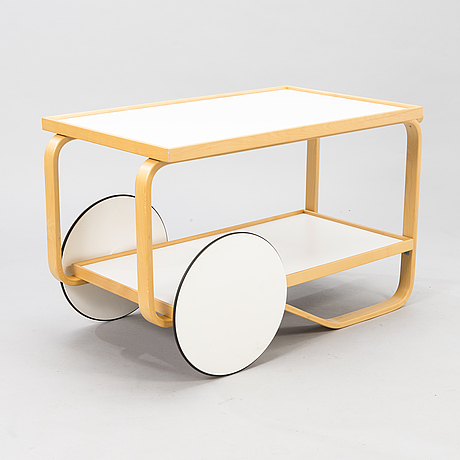 Alvar aalto, a late 20th-century tea trolley 901, for artek.