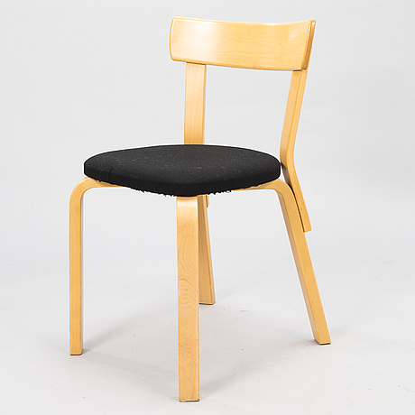 Alvar aalto, möbler, 3 st, artek 1900-talets slut.