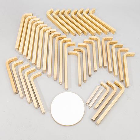 Alvar aalto table legs and stoolseat. artek.