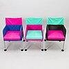 Eero aarnio, three 'puzzle chairs' for adelta.