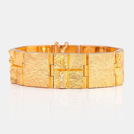 "BjÖrn weckstrÖm, armband ""quadrate forms"", 18k guld. lapponia 1976."