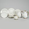 Louise adelborg, a part 'swedish grace' porcelain dinner service, rörstrand/lidköping, 20th century (60 pieces).