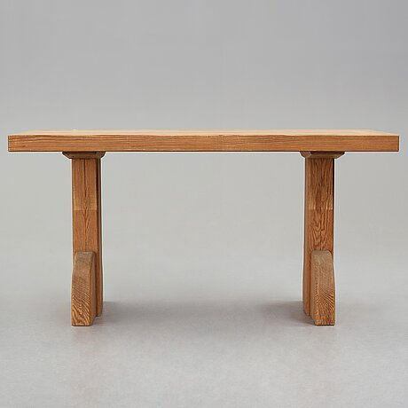 "Axel einar hjorth, a stained pine ""sandhamn"" table, nordiska kompaniet sweden 1935."