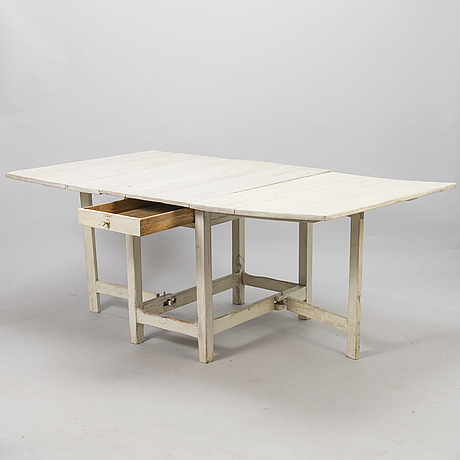 A 19th century gateleg table.