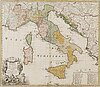 """A map, """"italia in suos status divisa..."""", homann's successor, 1790."""