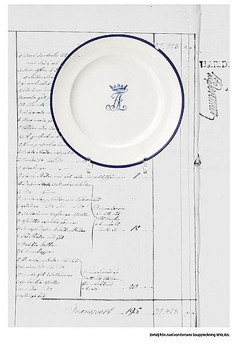 A set of 16 sévrès plates, paris, 1804-09. with axel von fersens monogram.