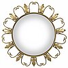 A brass mirror, late 20th century.