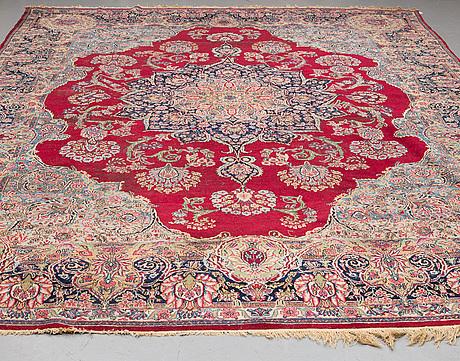 A carpet, , semi-antique kerman, ca 431 x 296 cm.