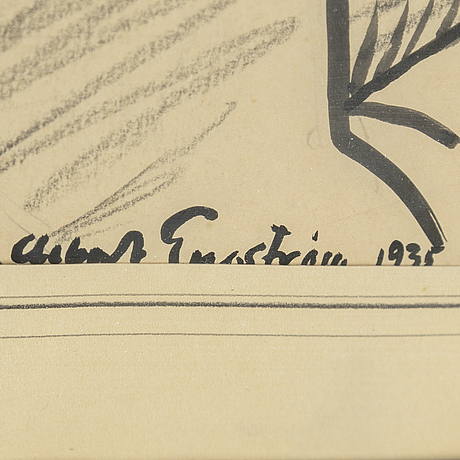 Albert engstrÖm, ink, signed and dated 1935.