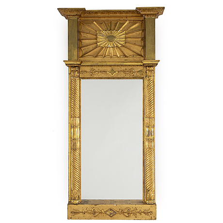 An empire mirror, first half of the 19th century.