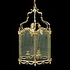 "A brass ceiling light ""jubileumslyktan"" by k.a. jonsson, signed and dated 2002."