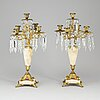 A pair of oscarian candelabra, late 19th century.