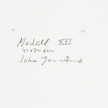 John jon-and, watercolour, and pastel, stamped signature.