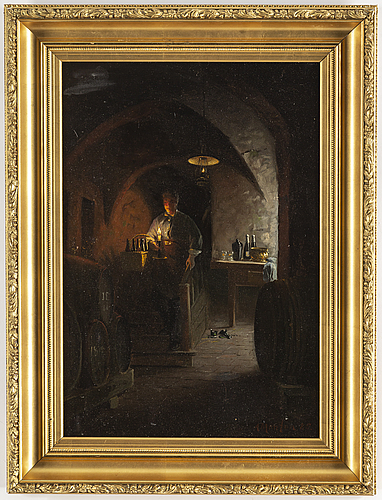 Anders montan, oil on canvas, signed and dated -85.
