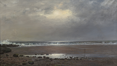 Alexander reich staffelstein, oil on canvas, signed.