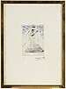 Salvador dali, drypoint, signed and numbered ea.