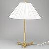 A brass table lamp model '2467' by josef frank, firma svenskt tenn.