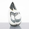 Timo sarpaneva, a 'sitting bird' glass sculpture, signed  timo sarpaneva iittala -54.