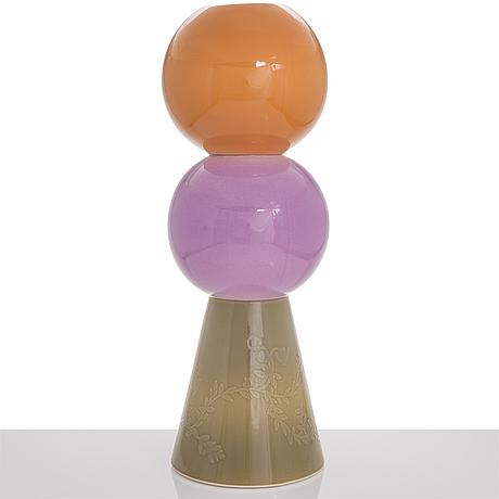 Heini riitahuhta, a ceramic vase, signed heini riitahuhta.