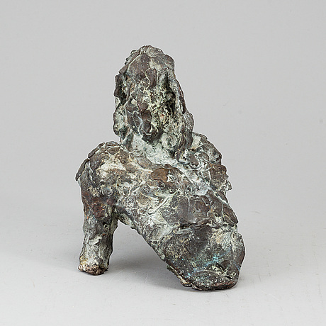Anita brusewitz-hansson, sculpture, bronze, signed a b-z h.