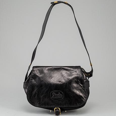 CÉline,a black leather handbag.