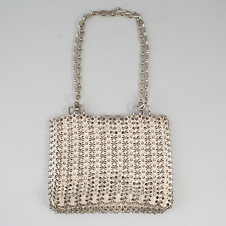 "Paco rabanne, väska, ""the metallic handbag"", 1960-tal."