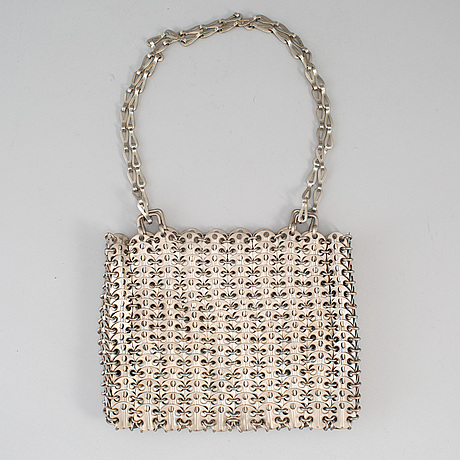 Paco rabanne, 'the metallic handbag', 1960's.